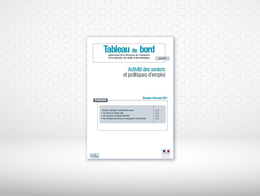 activités et politiques d'emplois des seniors, rapport de la dares